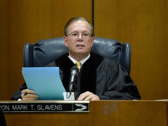 Wayne County Circuit Coiurt Judge Mark Slavens during sentencing of Floyd Galloway.