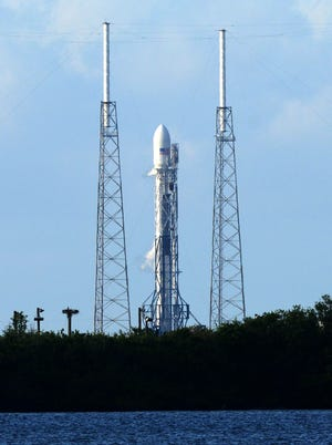 A SpaceX Falcon 9 rocket is scheduled to lift off from Cape Canaveral Air Force Station on Monday.