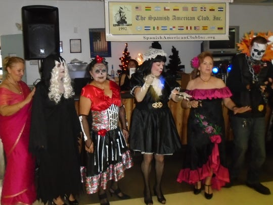 Among the Spanish American Club Halloween costume contest