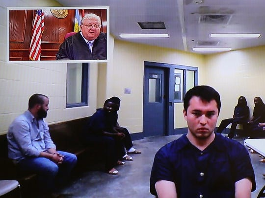 In this May 6 video still, Andrew Kim appears for an arraignment before Judge Blake Anderson in Jackson City Court