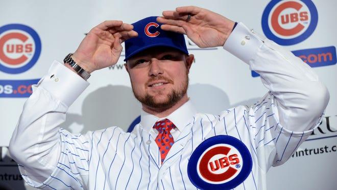 Chicago Cubs' new pitcher Jon Lester