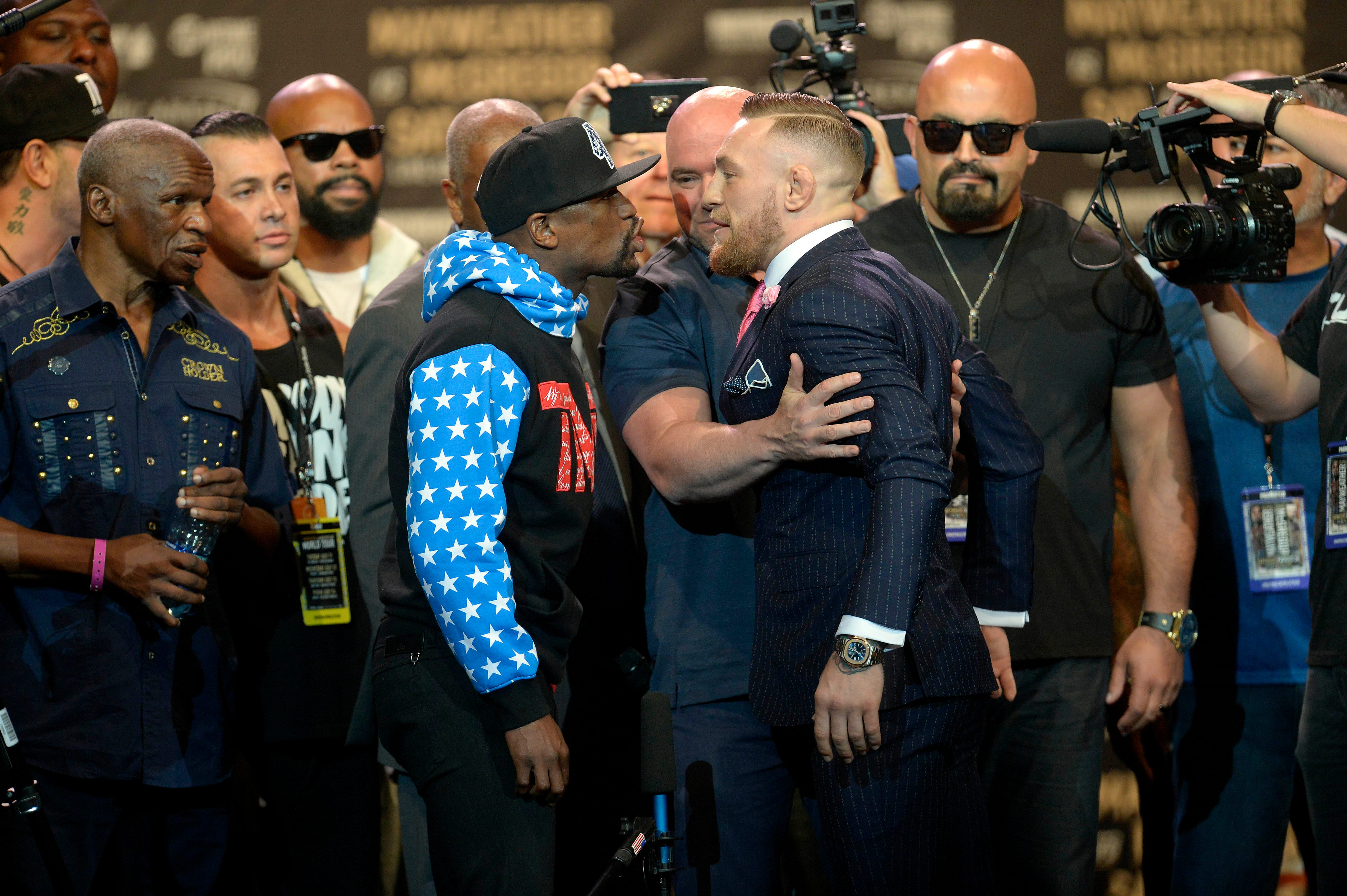 MacGregor and Mayweather staged a wild show. Just madness