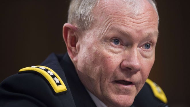 Gen. Martin Dempsey, chairman of the Joint Chiefs of Staff, testifies before Congress on Sept. 16, 2014, about the threat posed by the Islamic State.