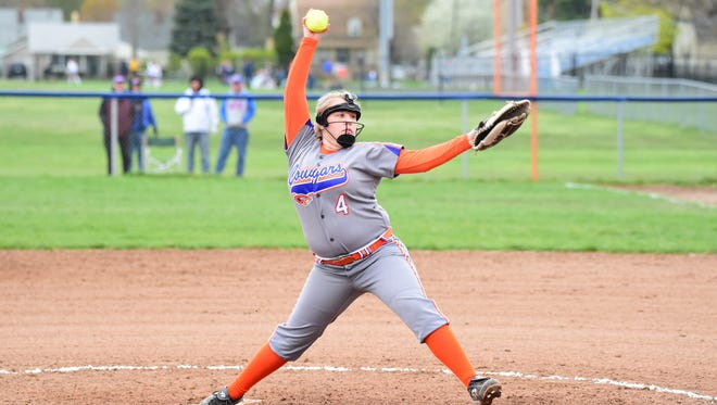 Garden City junior pitcher April Rudolph was on target Friday. She struck out 10 Spartans.