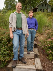 Rob Hunter and Kathy Boyer on their homestead in Monkton,