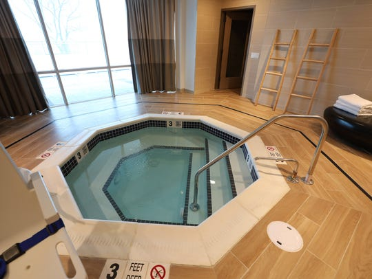 A whirlpool is pictured at River Tides at Greystone