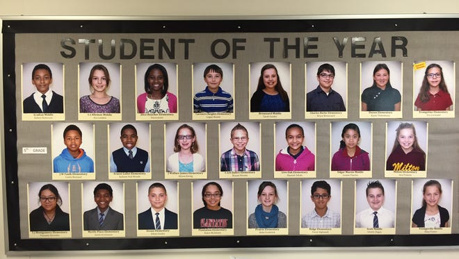 These are the fifth grade students of the year for the Lafayette Parish School System.