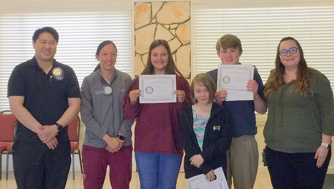 Winners of the Ruidoso Rotary essay contest were  Marshall Hooper from Ruidoso Middle School, first place; Emily Spaniel from Capitan Middle School, second place; and Lindie Phillips from Ruidoso Middle School for third place. Judges were Dr. Amanda Favis, Brad Treptow, Marc Beatty and Glen Cheng. The students wrote an essay on how to apply the Rotary 4 Way test to their everyday life.