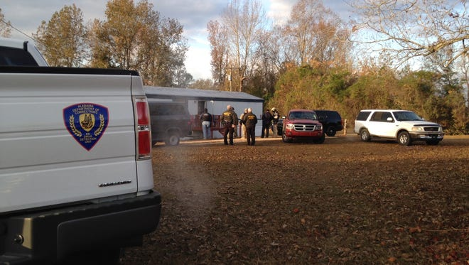 Sheriff's office deputies were joined by officers of thePrattville Police Department in serving a search warrant at a mobile home off County Road 1.