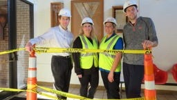 The Farmington Family YMCA staff is embracing the spirit of the makeover currently underway at the Y, including (from left) executive director Kyle Anderson, wellness coordinator Rebecca Baizas, welcome center coordinator Lisa Long and sports coordinator Rob Joynt.