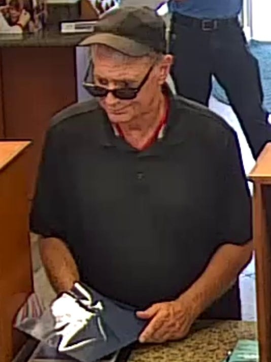 Fort Pierce police said they're looking for a bank robbery suspect that took an undisclosed amount money from a Seacoast Bank.