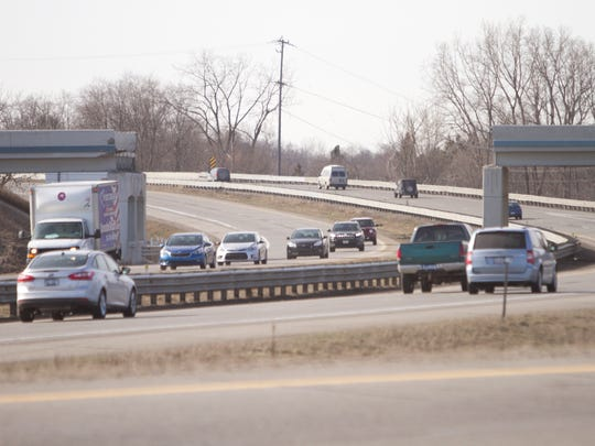 The 8 Mile Road overpass was taken down after a semi truck's load struck it.