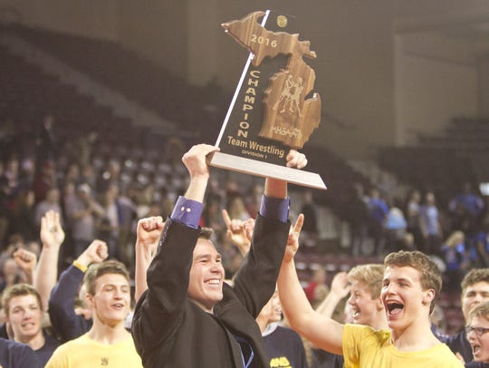 Todd Cheney coached Hartland to its first state championship