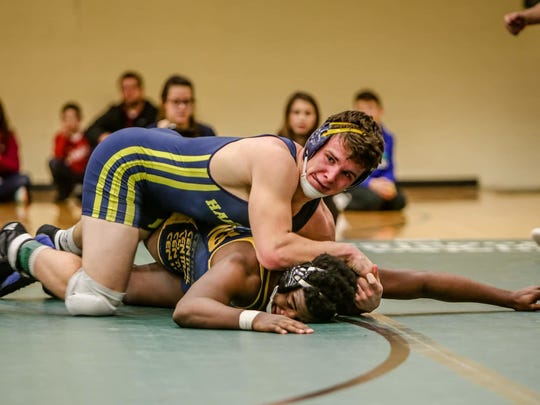 Hartland's Andrew Spisz made the state semifinals in