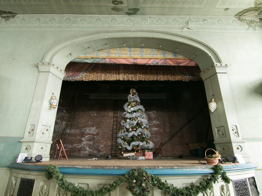 The Opera House stage, shown Wednesday, Dec. 13, 2017, currently decked out for a Christmas event, shows the grandeur of a bygone era.