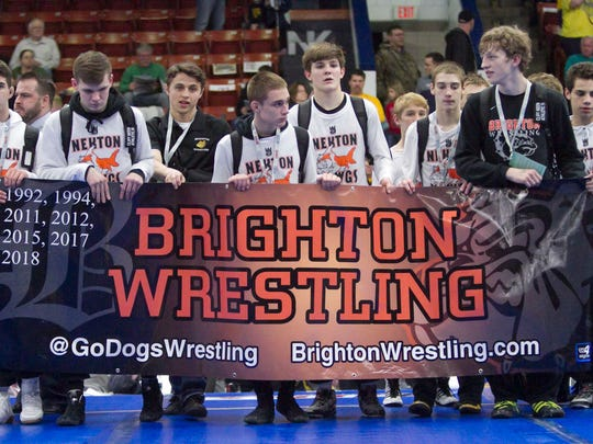 Brighton's wrestling team has reached the final round of the state tournament five times in the last eight years.