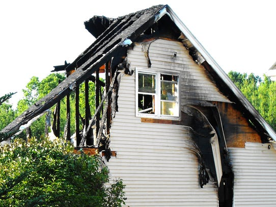 An early-morning fire destroyed a home at 213 Cobblestone