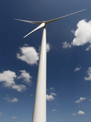 Turbines at the Papalote Creek wind farm.