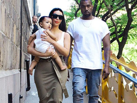 Kanye West, Kim Kardashian and North