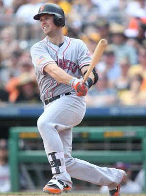 Buster Posey leads the major leagues with a .339 average and has improved his slugging and plate discipline, as well.