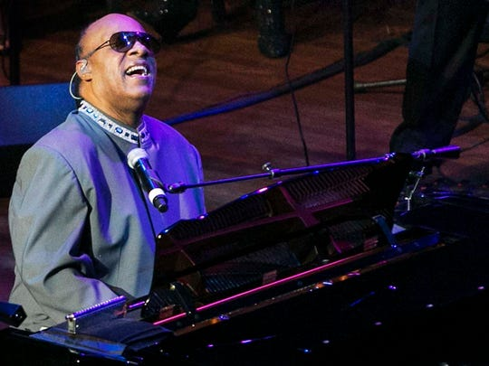 Music legend Stevie Wonder performs one of his hit songs after receiving The Epitome of Soul Award at the Cannon Center on Oct. 11, 2014. The event was presented by The Consortium: Memphis Music Town. (Yalonda M. James/The Commercial Appeal)
