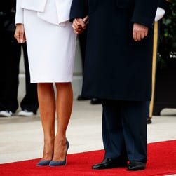 Once again, handholding turns awkward for President Trump and Melania Trump