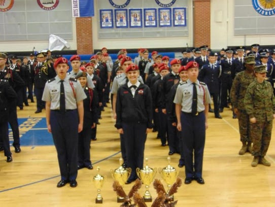 The Ozark High School JROTC Drill Team recently traveled