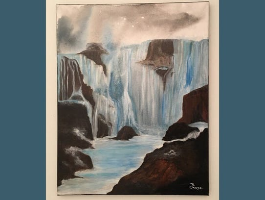 Eternal Falls by Marcia Chase-In Feng Shui, water is