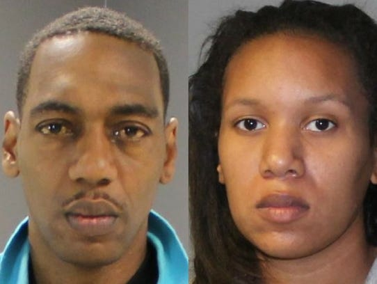 Corey Devon Henry, left, in a mugshot from 2013. Synquiss