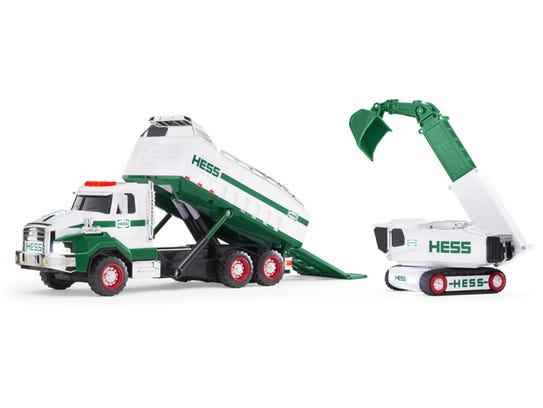This Hess Dumpster and Loader – with 350 parts - is the heaviest and most complex truck in the Hess fleet.