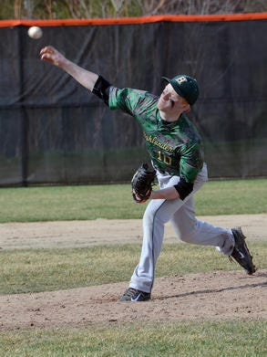 Howell's Chris Ackerman pitched six innings of four-hit ball as Howell won the first game of a doubleheader against Fort Wayne Carroll.