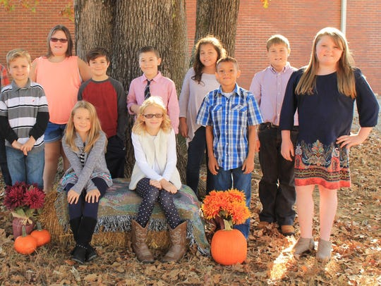 Third to 5th grade Harvest Court front row - Kenzie
