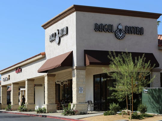 In addition to anchors HomeGoods, Nordstrom Rack, and a new Whole Foods Market, other tenants at the 111 Town Center shopping center in Palm Desert, Calif. include Bagel Bistro, Good Feet, and The UPS Store, among other businesses. Photographed on Wednesday morning, July 9, 2014.