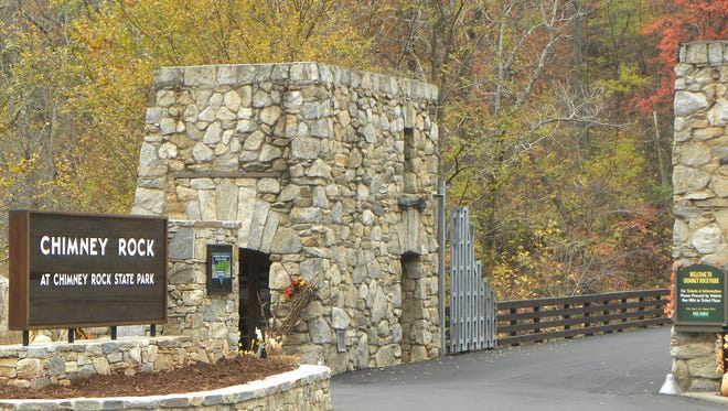 For the free First Day Hike, hikers will start at the Chimney Rock Park's front gates and make their way to the top of the Park using Chimney Rock Road.