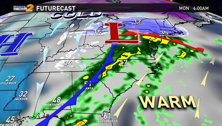Strong storm approaching the Southeast Sunday - Monday.