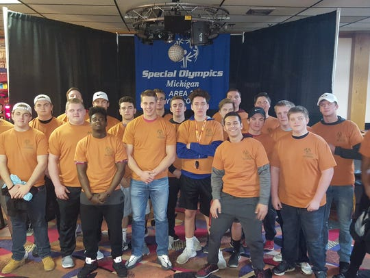 Livonia Churchill football players took part in a Special