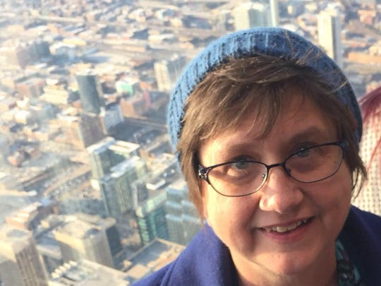 Donna Trower, 59, took a selfie while traveling with Evangel University students.