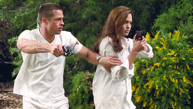 Brad Pitt and Angelina Jolie in a scene from the motion picture Mr. and Mrs. Smith from 2005.