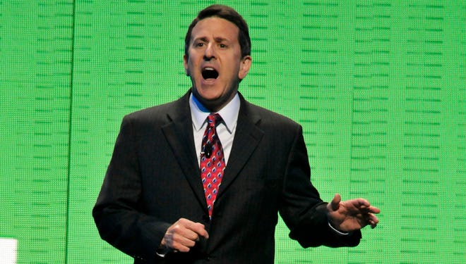 Brian Cornell, then president and CEO of Sam's Club, speaks during the Wal-Mart Stores Inc. shareholders' meeting in Fayetteville, Ark., in this June 4, 2010 file photo.