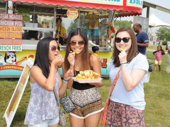 Canton residents Catherine Marudo, Lauren Lee and Frankie
