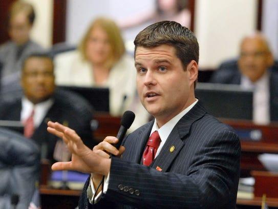 U.S. Rep. Matt Gaetz (R-Fort Walton Beach) has proposed