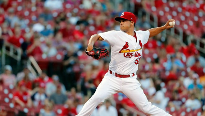 The Mariners acquired young left-hander Marco Gonzales from the St. Louis Cardinals on Friday, in exchange for top outfield prospect Tyler O'Neill, the second move to add pitching depth in as many days by Seattle.