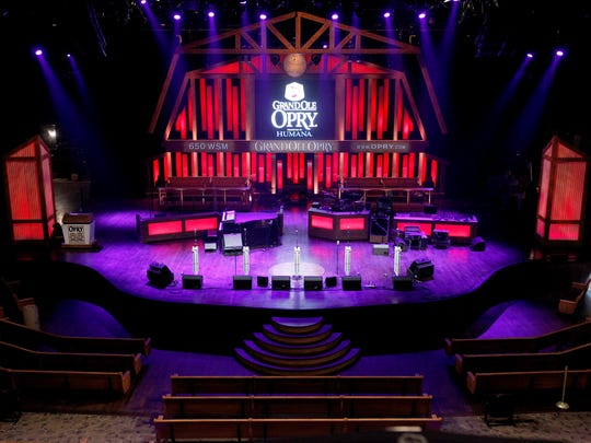 The stage at the Grand Ole Opry.