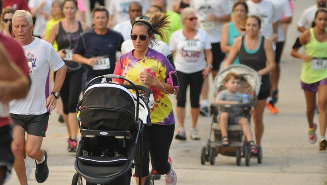You'll find runners pushing strollers, running with their dogs and running with small children at just about every running event on the Space Coast. Sometimes not getting run over on the course is harder than the running itself.