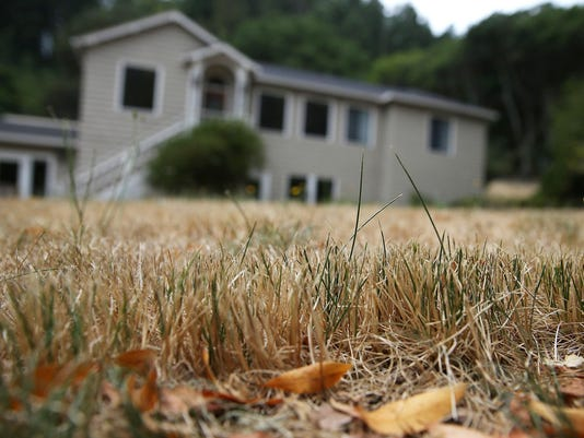 Drought Turns California Landscape Brown