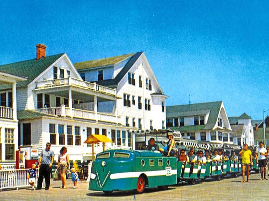 "The Boardwalk Tram was put into service in Ocean City in June 1964. An instant hit, the ""train,"" as locals called it, moved passengers along the Boardwalk for 25 cents a trip. The same ride today is $3."