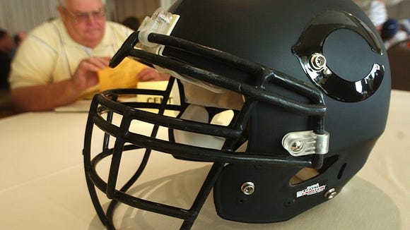 Central York unveiled its new helmet at YAIAA media day last week.