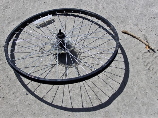 A bicyclist was injured on Friday, Oct. 25, 2019, when struck by a vehicle on Palm Desert.