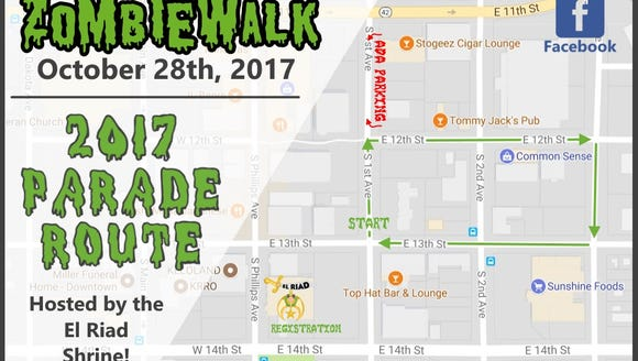 The 2017 Zombie Walk will take place Saturday in downtown