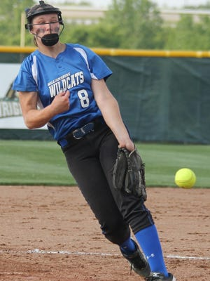 Williamsburg pitcher Kacey Smith delivers a pitch in the Wildcats' 7-6 win against Middletown Madison.